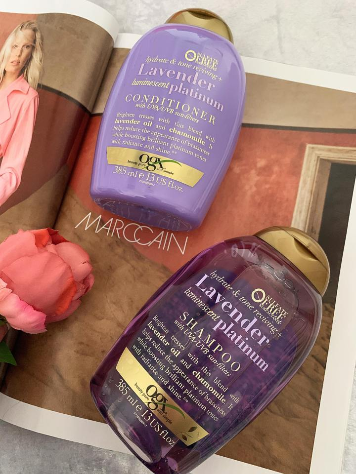Could this be the best purple shampoo yet? A review of the OGX Hydrate & Tone Reviewing + Lavender Luminescent Platinum Range